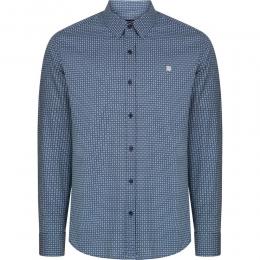 Baskılı Alttan Britli Yaka Slim Fit Erkek Gömlek (A92Y2072-11)
