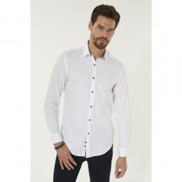 Armürlü Klasik Yaka Slim Fit Erkek Gömlek (A92Y2089-05)