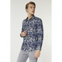 Baskılı Klasik Yaka Slim Fit Erkek Gömlek (A92Y2103-11)