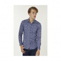 Baskılı Klasik Yaka Slim Fit Erkek Gömlek (A92Y2107-101)