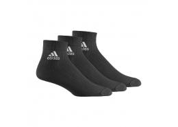 Ankle Rib T Siyah 3'lü Spor Çorap