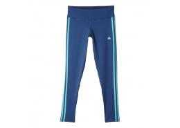 Basic 3 Çizgili Kadın Mavi Spor Tayt