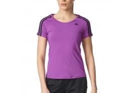 Basic 3S Kadın Mor Antrenman T-Shirt