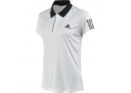 Club Polo Yaka Kadın Beyaz Tenis Tişörtü