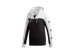 adidas Logo Kapüşonlu Kadın Siyah Sweatshirt