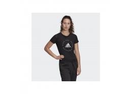 Slim Graphic Kadın Siyah Spor Tişört (FL1841)