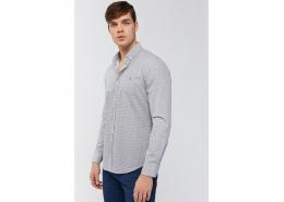 Baskılı Düğmeli Yaka Slim Fit Erkek Gömlek (A91S2006-44)