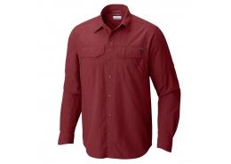 Silver Ridge Erkek Uzun Kollu Bordo Gömlek