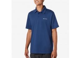 Mist Trail Ss Erkek Mavi Polo Tişört