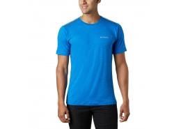 Tech Trail Crew Neck Erkek Mavi Tişört
