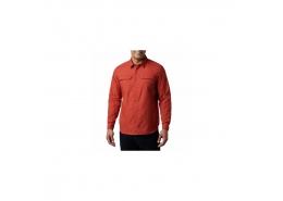 Silver Ridge Erkek Kırmızı Uzun Kollu Gömlek