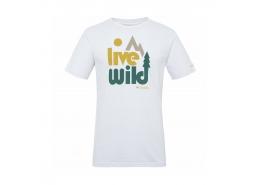 Live Wild SS Erkek Beyaz Tişört
