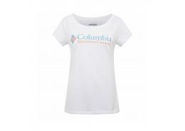 Csc W Brand Retro Kadın Beyaz Tişört