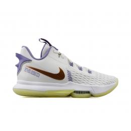 LeBron Witness 5 Erkek Beyaz Basketbol Ayakkabısı (CQ9380-102)