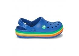 Crocband Rainbow Band Clog Çocuk Mavi Terlik