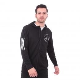 adidas Sport ID Erkek Siyah Kapüşonlu Sweatshirt