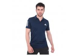 3 Bantlı Club Polo Yaka Erkek Mavi Tenis Tişörtü