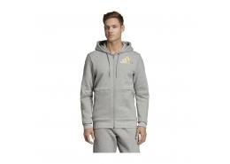 Sport ID Full-Zip Erkek Gri Kapüşonlu Sweatshirt