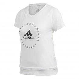 adidas Slim Graphic Kadın Beyaz Spor Tişört