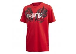 Predator Graphic Çocuk Kırmızı Tişört (FL2754)