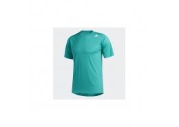 FreeLift Sport Vücuda Oturan 3 Bantlı Erkek Yeşil Tişört