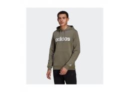 Essentials French Terry Linear Logo Erkek Haki Sweatshirt (GK9067)