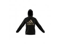 Essentials Camouflage Kapüşonlu Erkek Siyah Sweatshirt (GL0019)