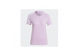 Loungewear Essentials Slim 3-Stripes Kadın Pembe Tişört (GL0790)