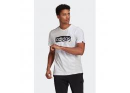 Camiseta Brushstroke Logo Erkek Beyaz Tişört (GL2862)