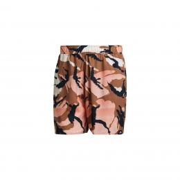 Short-Length Graphic Erkek Kahverengi Şort Mayo (GM2254)