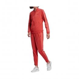 Essentials 3-Stripes Kadın Kırmızı Eşofman Takımı (GM5581)