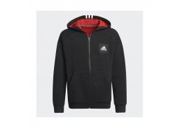 Stadium Full-Zip Kapüşonlu Çocuk Siyah Sweatshirt (H10163)