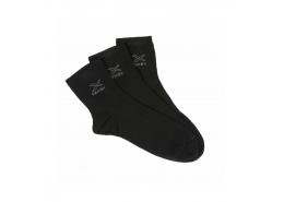 Danny Erkek Siyah 3'lü Bilek Çorap (40-44)