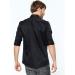 Borton Slim Fit Erkek Siyah Gömlek