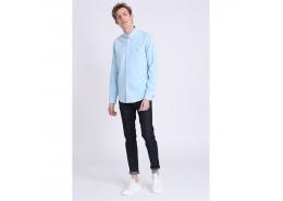 Tom Erkek Mavi Uzun Kol Gömlek (LF18SMSH111-AQUA)