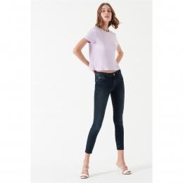 Adriana Ankle Mavi Glam Jean Mavi Pantolon