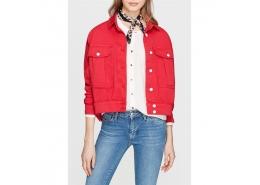 Cep Detaylı Kırmızı Kadın Ceket