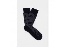 Erkek Gece Laciverti Uzun Çorap (091410-26828)