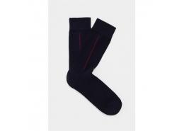 Lacivert Erkek Uzun Günlük Çorap