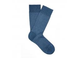 Lacivert Uzun Soket Pamuklu Çorap (091417-26828)