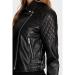 Mavi Jeans Suni Deri Kadın Siyah Biker Ceket