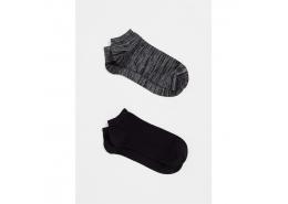 İkili Paket Çorap Gece Gri
