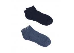 İkili Paket Çorap Gece Lacivert
