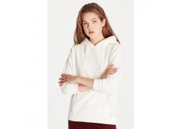 Kapişonlu Sweatshirt Kırık Beyaz