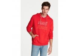 Baskılı Erkek Kırmızı Sweatshirt (065839-27120)