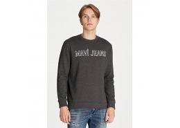 Logo Baskılı Erkek Gri Sweatshirt (065752-29822)