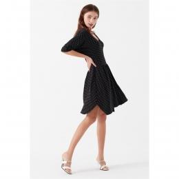Örme Elbise Siyah