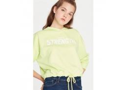 Strength Baskılı Kadın Yeşil Sweatshirt (168331-30378)