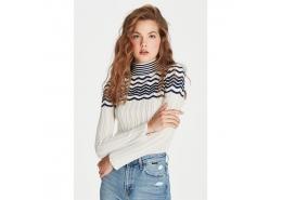 Stripe Sweater Gardenia