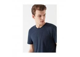 Mavi Jeans Çizgili Erkek Siyah Basic Tişört (065372-900)